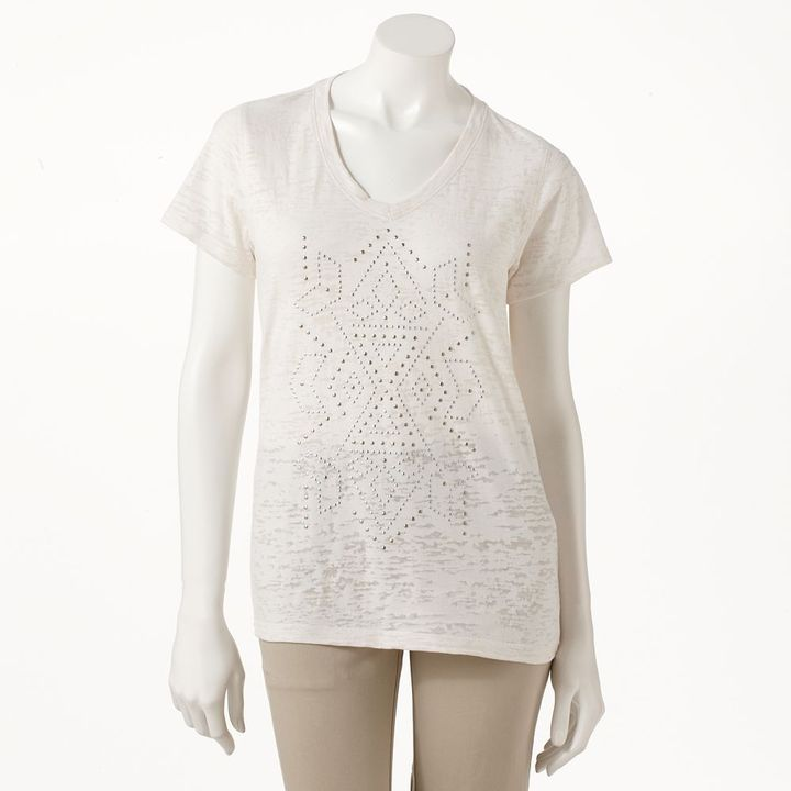 Sonoma life + style ® embellished burnout tee - women's