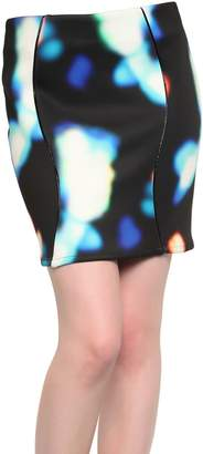 Mini Market Minimarket Backlit Print Neoprene Skirt