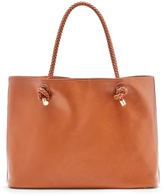 Shaynelee Braided Handle Tote $64.95 thestylecure.com