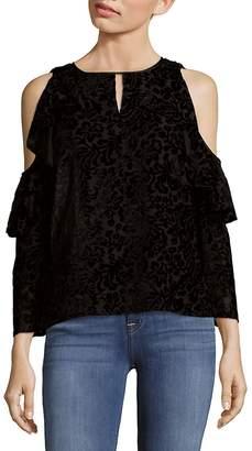 Nanette Lepore NANETTE Women's Cascade Cold Shoulder Top