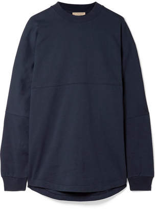 Burberry Oversized Printed Cotton-jersey Sweatshirt - Navy