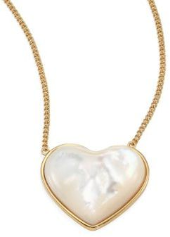 Tory BurchTory Burch Amore Mother-Of-Pearl Heart Pendant Necklace