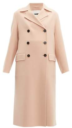 Jil Sander Double Breasted Cashmere Coat - Womens - Light Pink