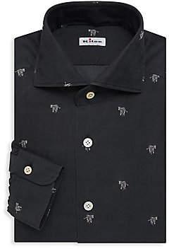 Kiton Men's Zebra Dress Shirt