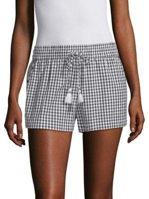 Vineyard Vines Mixed Gingham Embroidered Shorts