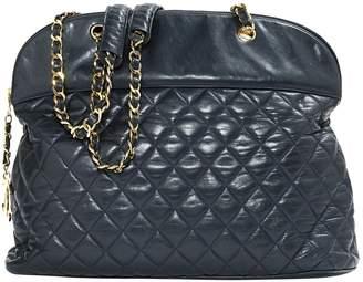 Chanel Vintage Navy Leather Handbag