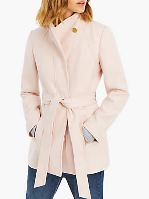 Hazel Fitted Coat, Pale Pink