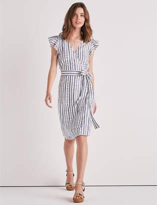 Lucky Brand Eyelet Stripe Wrap Dress