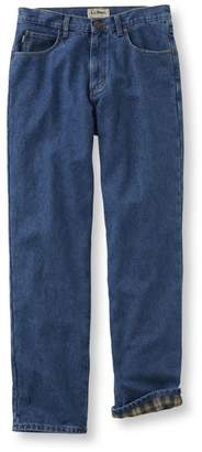 Men's Double LA Jeans, Flannel-Lined Natural Fit