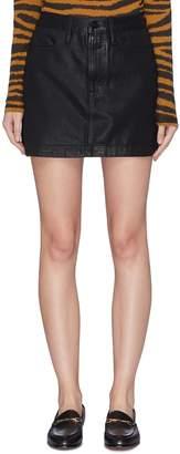 Frame 'Le Mini' coated denim skirt