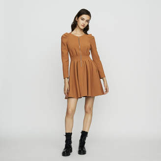 Maje Skater dress with pleats