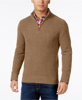 Tommy Hilfiger Men's Harrington Quarter-Zip Sweater $89.50 thestylecure.com