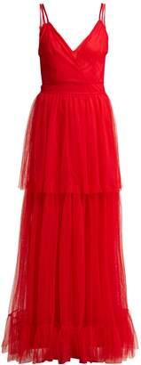 STAUD Mandy tiered tulle dress
