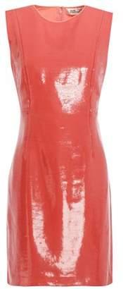 Diane von Furstenberg Sequined Silk Crepe De Chine Mini Dress