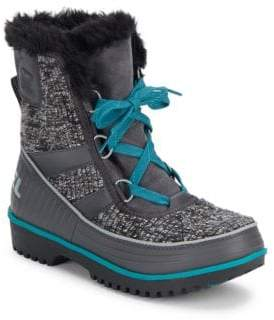 Sorel Tivoli Faux Fur Lace-Up Boots