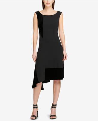 DKNY Asymmetric Fit & Flare Dress