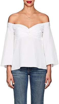 A.L.C. Women's Auster Cotton Off-The-Shoulder Blouse - White