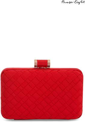 Next Womens Phase Eight Carmine Clio Weave Box Clutch