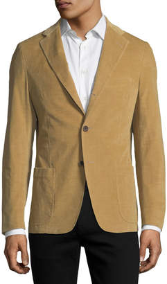 Neiman Marcus Corduroy Three-Button Sport Jacket