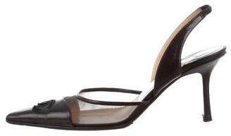 Chanel Pointed-Toe Slingback Pumps