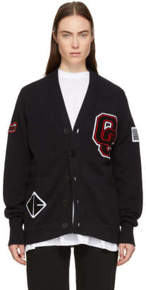 Opening Ceremony Black Long Varsity Cardigan