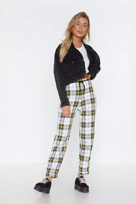 Nasty Gal Stark Raving Plaid Relaxed Pants