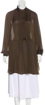 Givenchy Semi-Sheer Long Sleeve Tunic