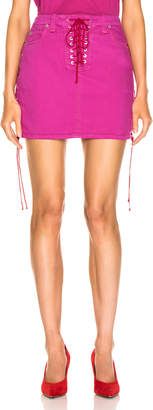 Unravel Overd Side Lace Up Skirt in Fuchsia | FWRD