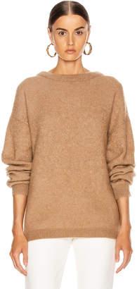 Acne Studios Dramatic Mohair Sweater in Caramel Brown | FWRD
