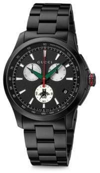 Gucci G-Timeless Chrono Brushed Black PVD Bracelet Watch