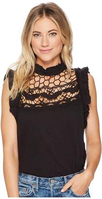 Free People Simply Smiles Crochet Top Women's Sleeveless