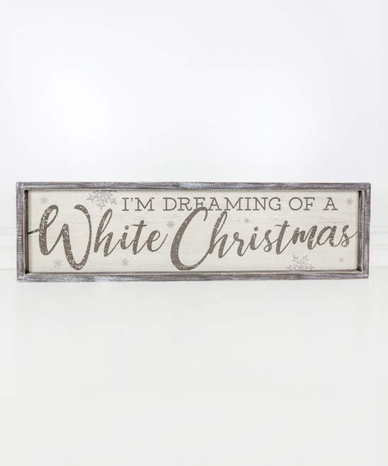 'I'm Dreaming of a White Christmas' Framed Wood Wall Sign