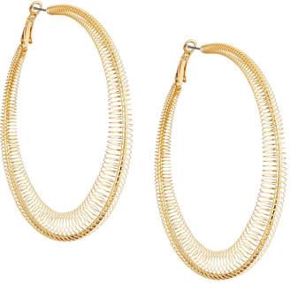 Romeo & Juliet Couture Pleated Hoop Earrings