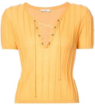 Tome lace-up ribbed T-shirt