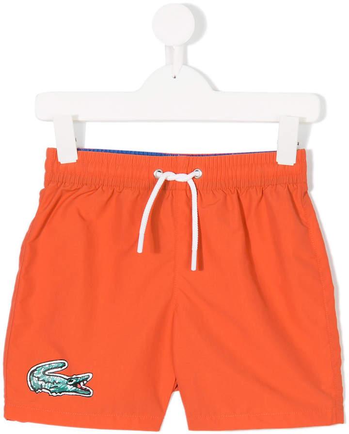 Lacoste Kids logo print track shorts