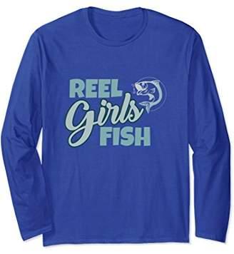Funny Fishing Girl Shirt-Reel Girls Fish-Long Sleeve Tshirt