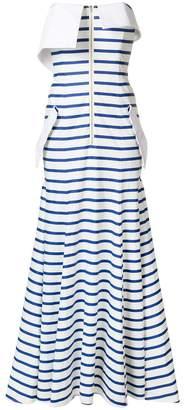 Natasha Zinko striped jersey bandeau gown