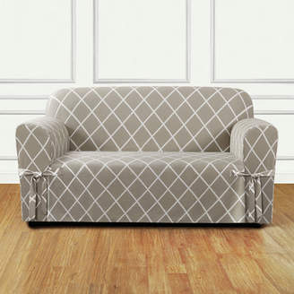 Sure Fit Lattice Box Cushion Loveseat Slipcover