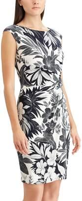 Chaps Women's Geometric Twist Knot Dress