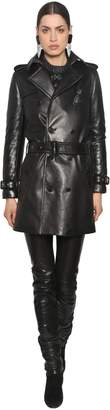 Saint Laurent Double Breast Nappa Leather Trench Coat
