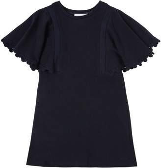 Chloé Cotton Sweatshirt Dress