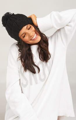 Show Me Your Mumu Katie Pom Pom Hat ~ Black