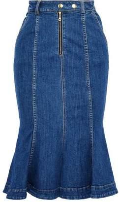 Nicholas Fluted Denim Skirt