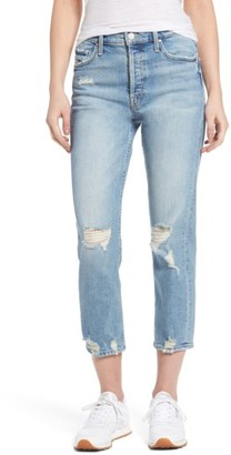 Women's Mother The Tomcat Ripped Crop Straight Leg Jeans $245 thestylecure.com