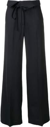 Maison Flaneur black flared trousers