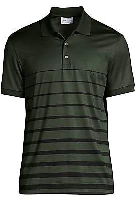 Salvatore Ferragamo Men's Stripe Polo