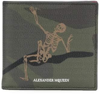 Alexander McQueen skeleton print wallet