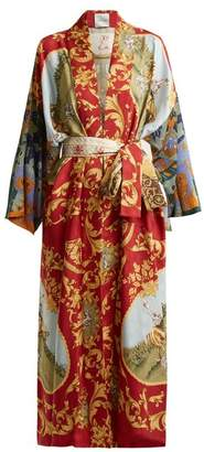 Rianna + Nina - Vintage Patchwork Silk Kimono Jacket - Womens - Multi