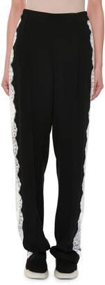 Stella McCartney Lace Racer-Stripe Trousers