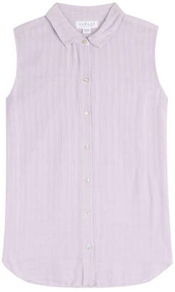 Velvet Sleeveless Blouse